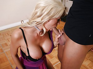 His tempting blonde cock angel