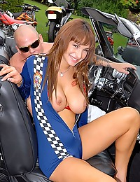 Racing girl fucked by big cock