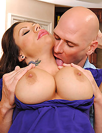 Busty Tattooed Cougar Loves Hard Cock