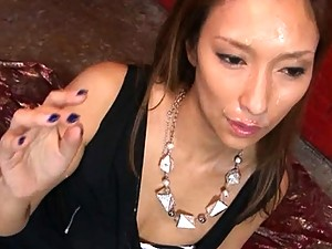 aya model face being covered with cum after being fucked