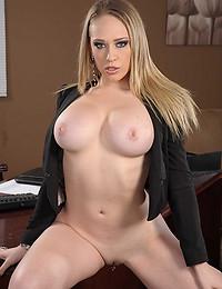 Pornstar in a sexy dress