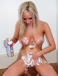 Brittanys Bod - Whipped cream looks yummy on that berry - and on this teen's nips too!