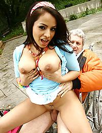 Party girls enjoy his dick
