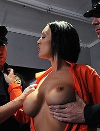 Dylan is on death row. She's been a bad girl, and now she's suffering the consequences. She's always been a sexual psycho, so naturally her last meal has to be a throbbing beef bayonet. The warden has always been a good man, so as a final request he'll le