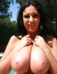 Busty Beauty Fucked By The Pool