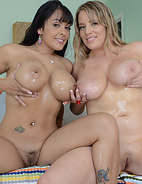Two Horny Busty Babes Play Naughty!
