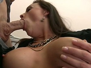Busty Brunette Chanel Preston Gives a Hot Blowjob and Then Gets Fucked