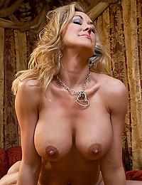 Horny cougar rides big cock