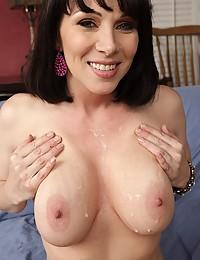 Big natural tits covered in cum