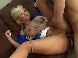 Sexy Anal Blonde Phoenix Marie Gets Fucked and Facialized In Stockings