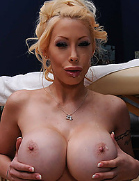 Busty Blonde Cougar Filled With Dick