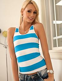 Slender Blonde Goddess Erica Fontes