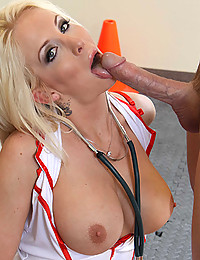 Horny Blonde Nurse Treats Patient