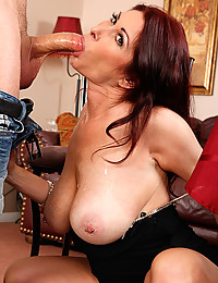 Gorgeous Redhead Milf Squeezes Thick Cock