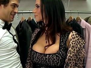 Fucking the Busty and Horny Latina Ariella Ferrera In The Coat Room