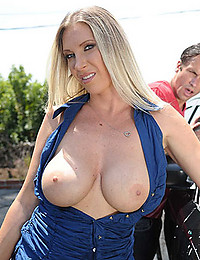 Big Titted Beauty Spreads For Dick