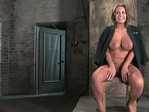 Busty Milf Gets Her Big Tits Squeezed In BDSM Video