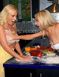 A Lesbian Food Fight Fuck