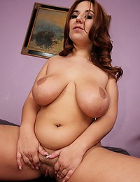 Curly Haired BBW Looks So Tasty