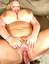 Mega busty BBW on cock