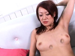 Misaki Shiraishi Hot babe fingers pussy while giving a blowjob