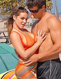Outdoor bikini girl hard sex