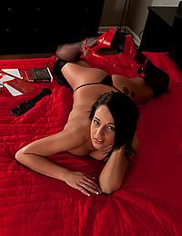 Lusty lingerie on lovely lady