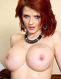 Redhead pornstar interracial sex
