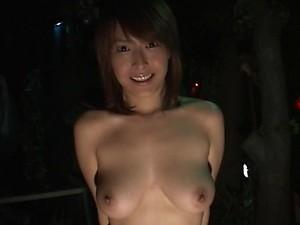 Voyeur Asian Slut Nana Natsume Gives Outdoor Blowjob