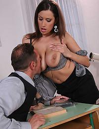Naughty Office Minx Jane Enjoys Pole