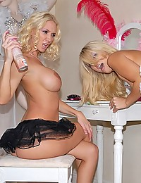 Hot blondes with their fun toys