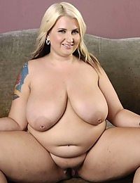 Fat horny blonde strips