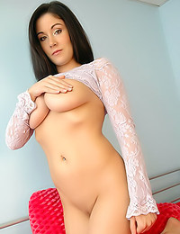 Sweet Krissy - The incredibly hot Krissy looks great in lace