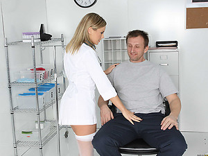 Doctor shows his cock good time