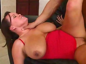 Busty Slut Brandy Talore Gets a Cock Smaking on her Big Natural Tits