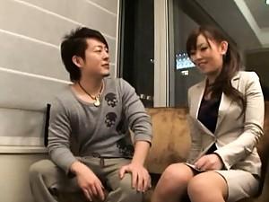 Mei Miura sexy secretary in a short miniskirt ready for sex