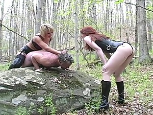 Forest femdom fuck