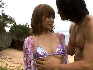 Kirara Asuka?s tits are shown off outdoors where anyone can see