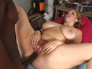 Busty Girl Gets Nailed By A Big Black Monster Cock