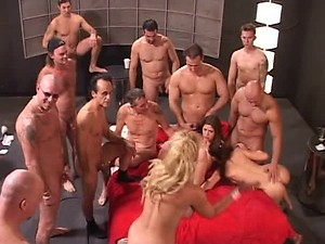 Insane Group Sex Orgy With Two Smoking Hot Babes
