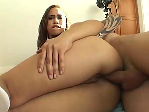 Warming Up Ebony Aurora Jolie's Big Ass With Anal Sex
