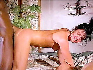 Rare vintage porn material with passionate sex