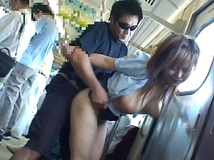 Miruku Matsusaka getting fucked on public transit in this video