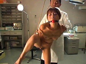 Kirari Koizumi Nude nurse is tied and gagged for anal fingering