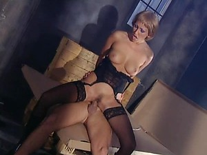 Hot Blonde MILF Mandy Bright Sucks Cock and Gets Fucked In Lingerie