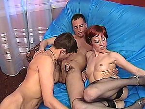 Outrageous bisexual group sex
