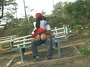 Insatiable Anal Latina Sucks Cock and Gets Ass Fucked Outdoors