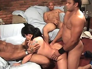 Katrina Kraven Gangbanged and Porked in the Ass by Three Cocks