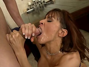 Busty Brunette MILF Devon Michaels Gets Fucked Hard and Facialized