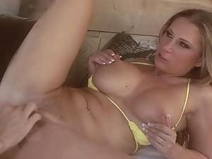 Blonde MILF Devon Lee Gets Fucked Cowgirl and Doggy Style In Bikini